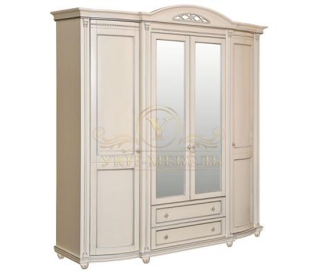 Шкаф из массива 4 створчатый Валенсия Люкс