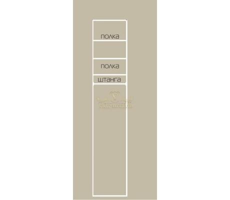 Шкаф из массива 1 створчатый Классика