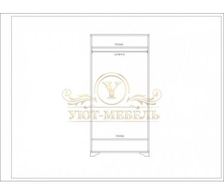 Шкаф из массива 2 створчатый Сатори