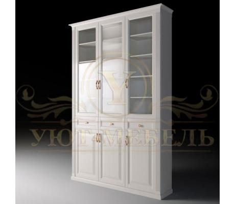 Шкаф из массива 3 створчатый Либерти с ящиками