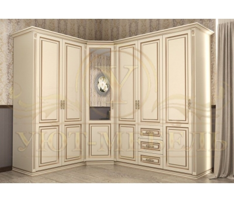 Шкаф из массива угловой Лирона