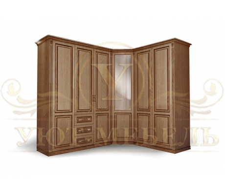 Шкаф из массива угловой Лирона 2