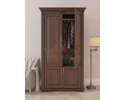 Шкаф 2 створчатый из массива Палермо дверцы внизу