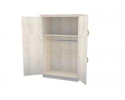 Шкаф 2 створчатый из массива Эдем дверцы вверху