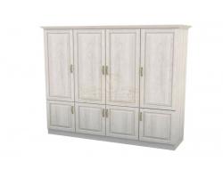 Шкаф 4 створчатый из массива Эдем дверцы внизу
