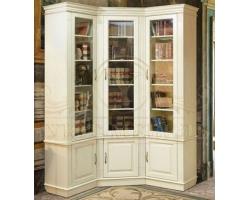 Библиотека угловая из массива сосны Верди
