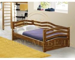 Детская кровать из дуба Волна