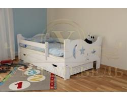 Детская кровать из березы Звездочка