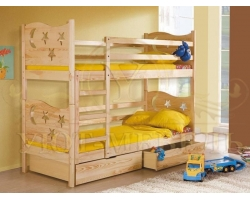 Детская кровать из березы Звездочка 2