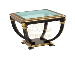 Журнальный столик из дерева Лев квадрат золото