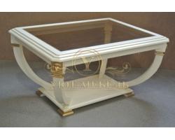 Журнальный столик из дерева Лев прямоугольный золото