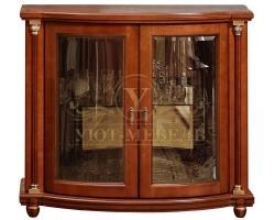 Комод из дерева Валенсия со стеклом 2 дверки