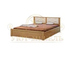 Деревянная двуспальная кровать из массива Глория