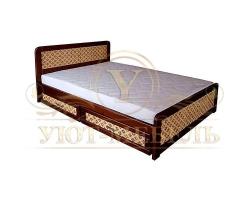 Деревянная односпальная кровать Классика ткань