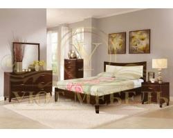 Кровать с мягким изголовьем из массива Луксор тахта