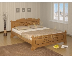 Деревянная двуспальная кровать из массива Афродита