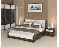 Кровать с подъемным механизмом из массива Арикама 3