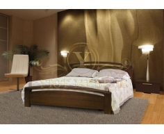 Деревянная двуспальная кровать из массива Бали