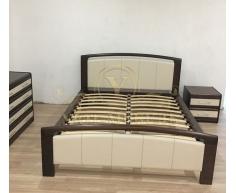 Купить деревянную кровать Бали со вставкой