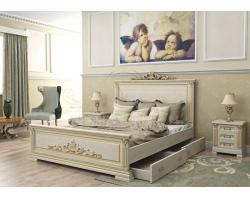Деревянная двуспальная кровать из массива Британия