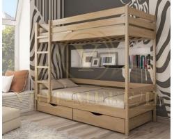 Двухъярусная кровать из дуба Классика