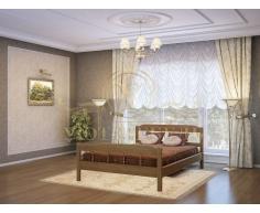 Деревянная двуспальная кровать из массива Эра