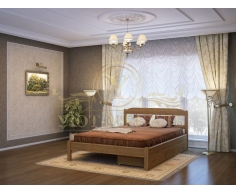 Деревянная двуспальная кровать из массива Эра тахта
