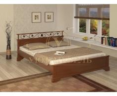 Деревянная двуспальная кровать из массива Ева тахта