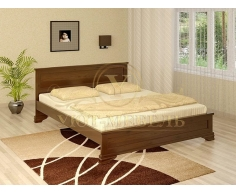 Деревянная двуспальная кровать из массива Гармония тахта