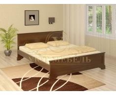 Деревянная двуспальная кровать из массива Гармония
