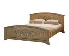 Деревянная двуспальная кровать из массива Гера
