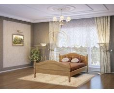 Деревянная двуспальная кровать из массива Герцог