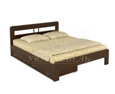 Деревянная двуспальная кровать из массива Икея тахта
