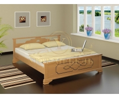 Деревянная двуспальная кровать из массива Ирида