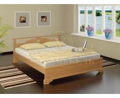 Деревянная двуспальная кровать из массива Ирида тахта