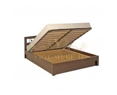 Деревянная двуспальная кровать из массива Жоржетта тахта с ковкой