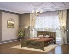 Деревянная двуспальная кровать из массива Классика