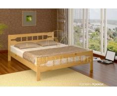 Деревянная двуспальная кровать из массива Крокус