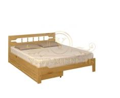 Деревянная двуспальная кровать из массива Крокус тахта