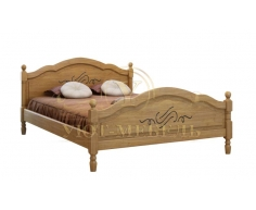Деревянная двуспальная кровать из массива Лама