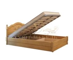 Кровать с подъемным механизмом из массива Лама тахта