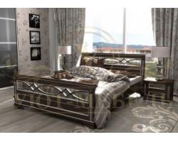 Кровать из массива сосны Лирона