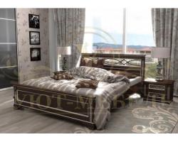 Кровать из массива сосны Лирона 2