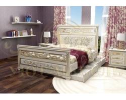Кровать из массива сосны Лирона 3