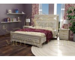 Деревянная двуспальная кровать из массива Лирона 4