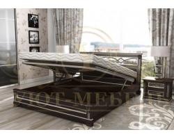 Кровать с подъемным механизмом из массива Лирона тахта