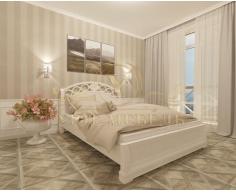 Деревянная двуспальная кровать из массива Лорена