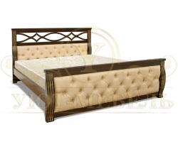 Деревянная двуспальная кровать из массива Мадисон