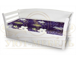 Деревянная односпальная кровать Милана
