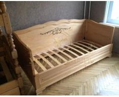 Деревянная односпальная кровать Муза 3 спинки